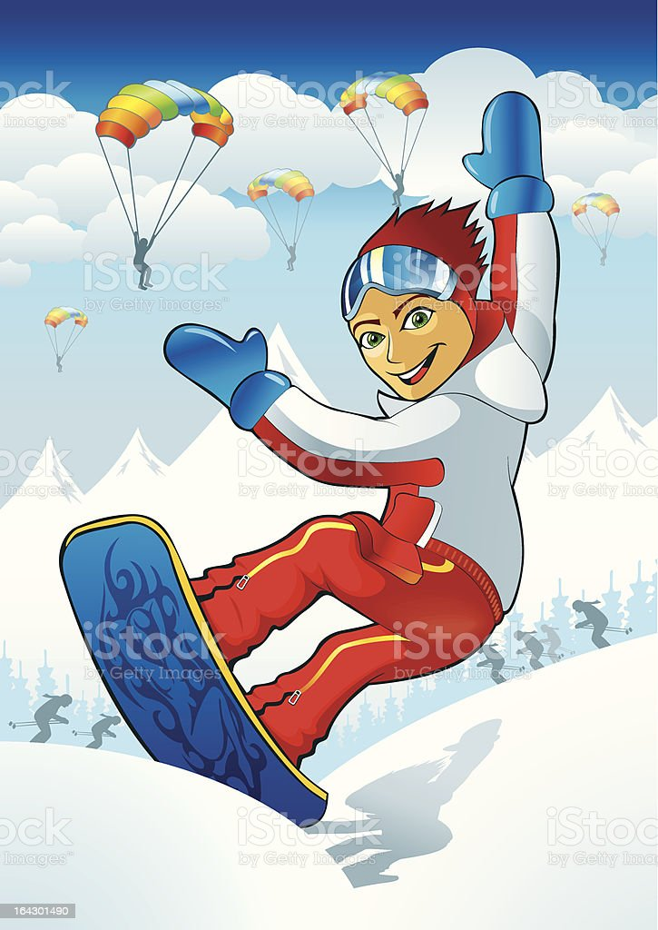 Snow boy royalty-free stock vector art