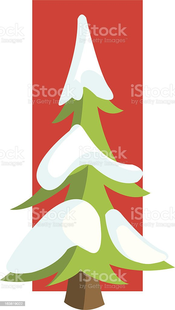 Snow Covered Tree royalty-free stock vector art
