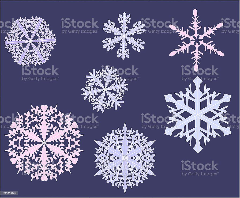 Snow flakes Vector) royalty-free stock vector art