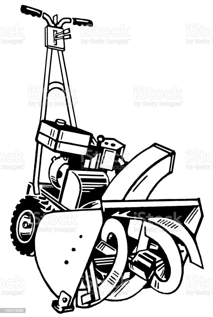 snowblower clip art  vector images  u0026 illustrations