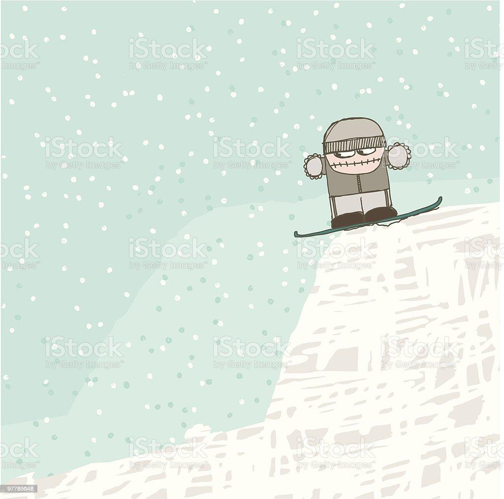 snowboard geek royalty-free stock vector art