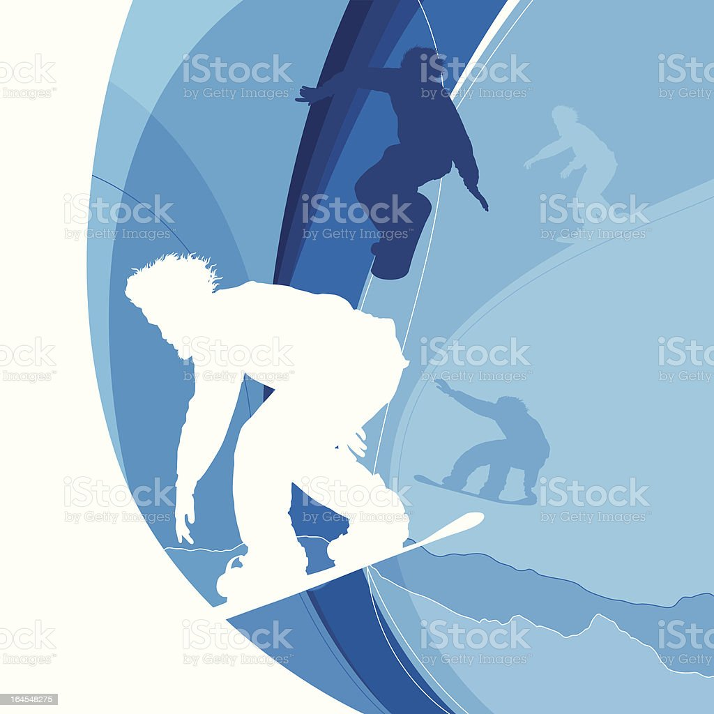 Snowboarding royalty-free stock vector art