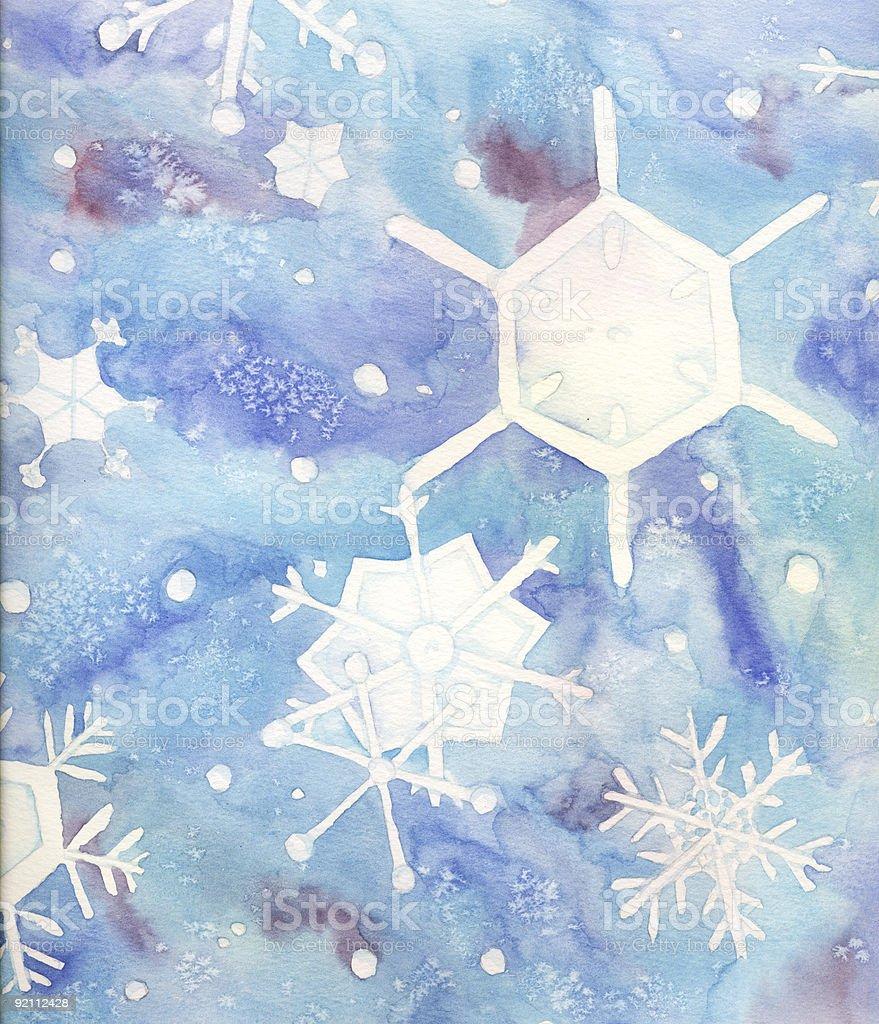 Snowflake background 1 vector art illustration