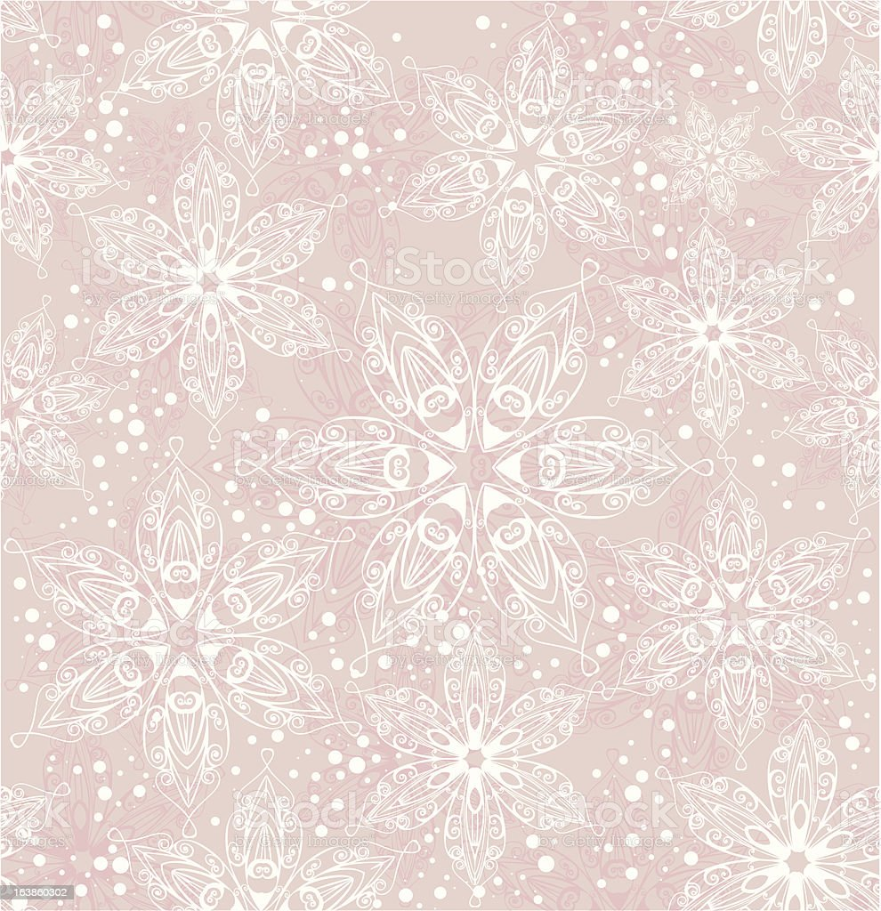 snowflake background vector art illustration