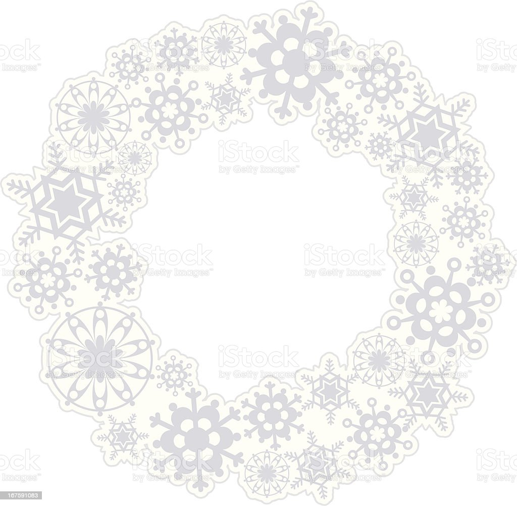 Snowflake Wreath royalty-free stock vector art