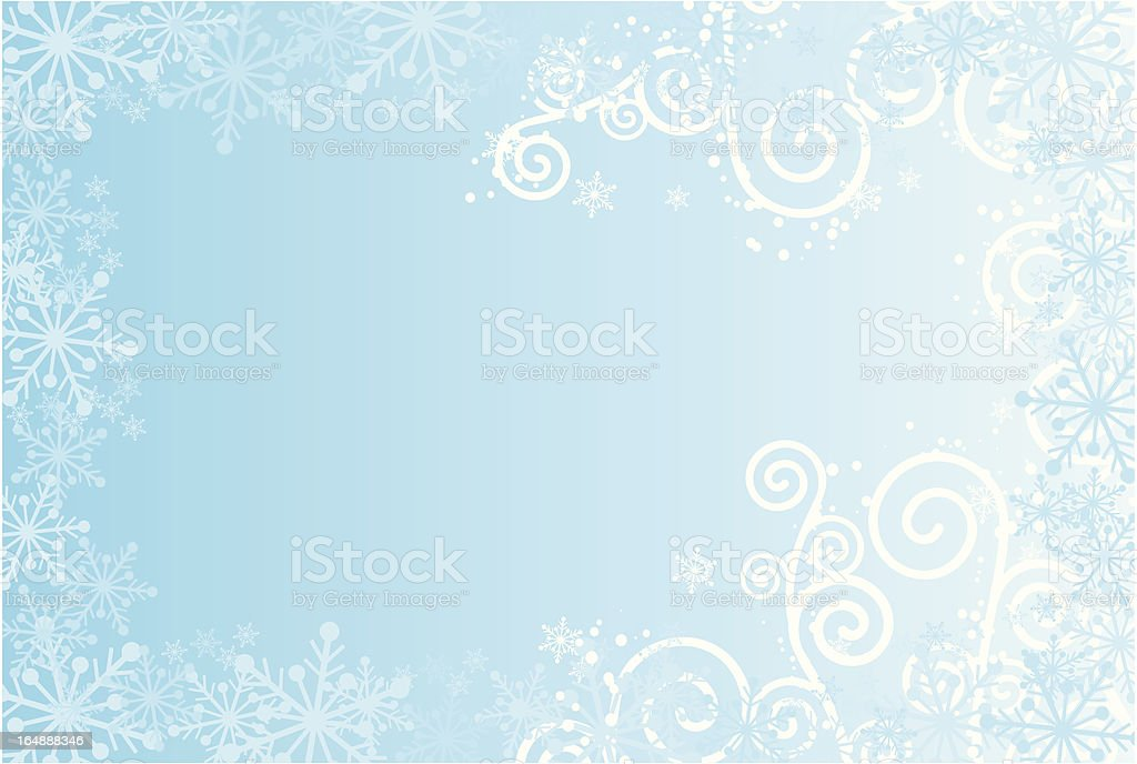 Snowflakes background, vector royalty-free stock vector art