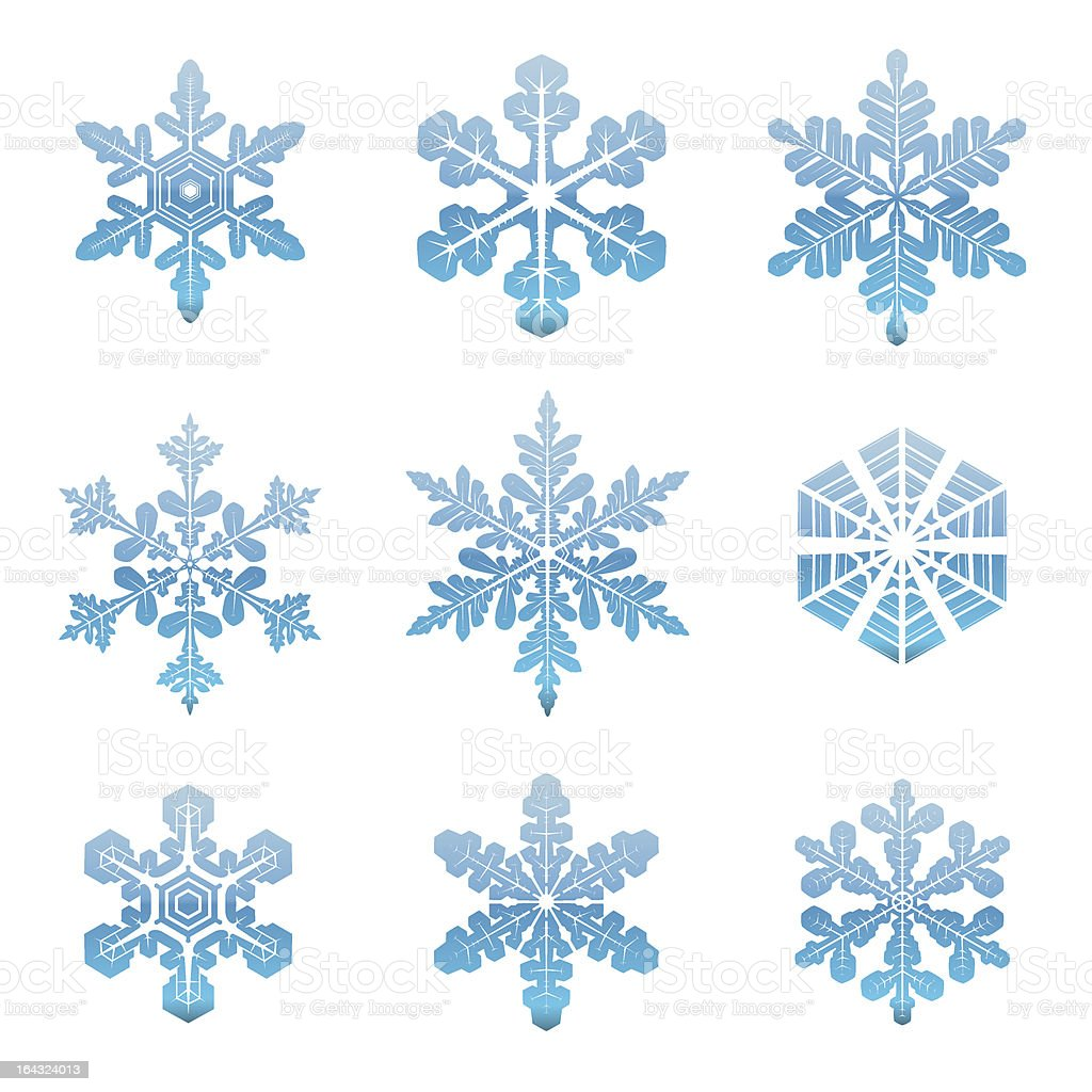 Snowflakes collection royalty-free stock vector art