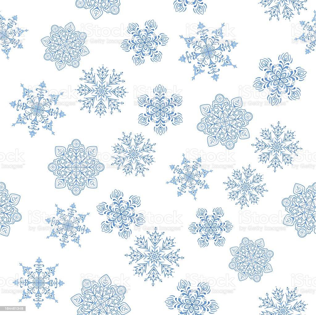 Snowflakes figured, seamless royalty-free stock vector art