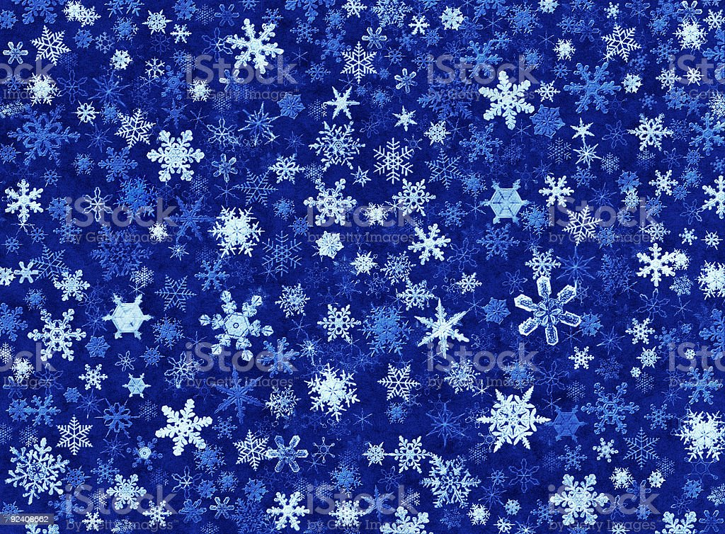 Snowflakes in Blue royalty-free stock vector art