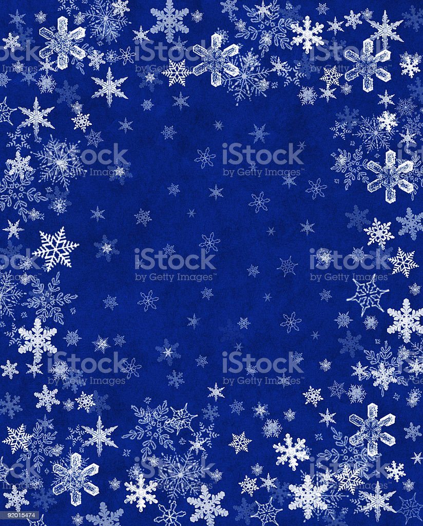 Snowflakes on Blue royalty-free stock vector art
