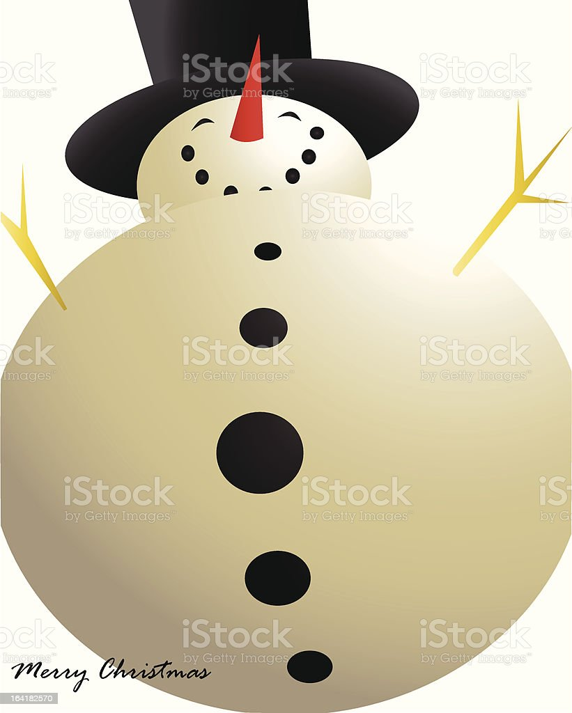 Snowman Holiday Card royalty-free stock vector art