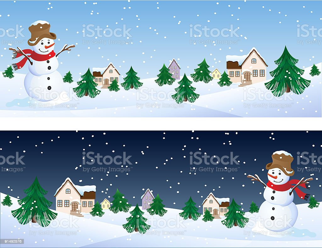snowman royalty-free stock vector art