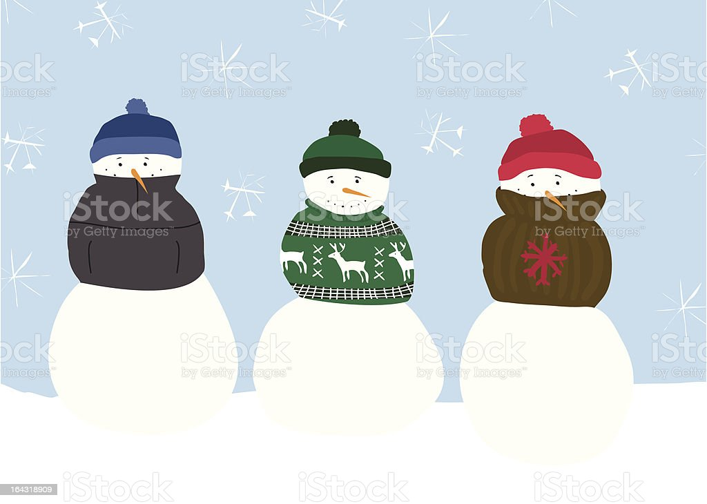 Snowman Sweaters royalty-free stock vector art