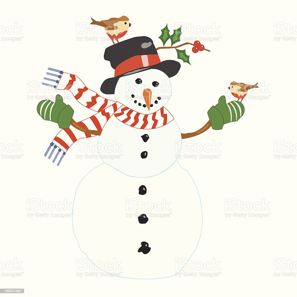 Snowman - Vector. royalty-free stock vector art