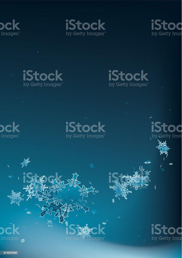 Snowy flow royalty-free stock vector art