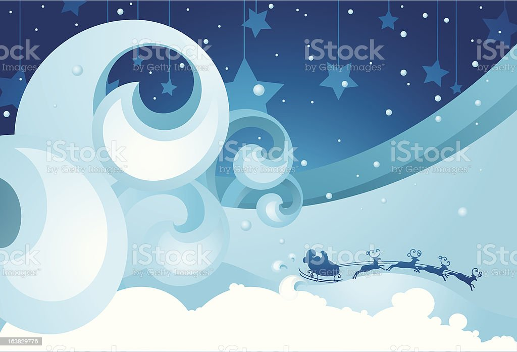 Snowy Storm royalty-free stock vector art