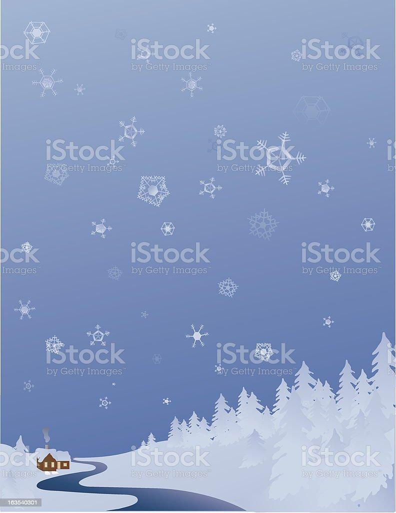Snowy winter landscape royalty-free stock vector art