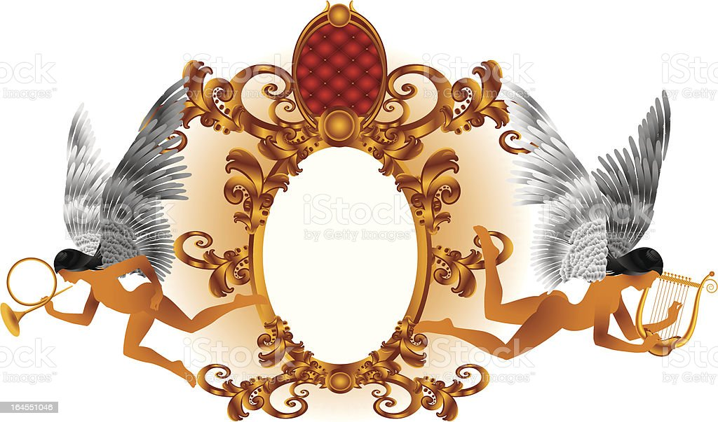 Soaring angels royalty-free stock vector art