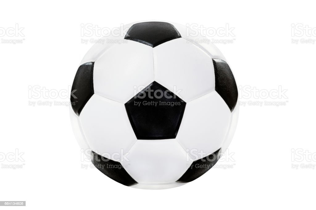 soccer ball isolated on white backgroud with clipping path stock photo