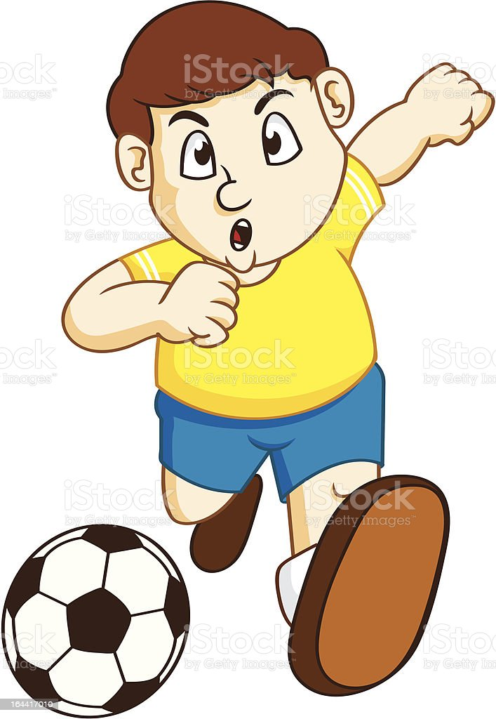 soccer boy royalty-free stock vector art