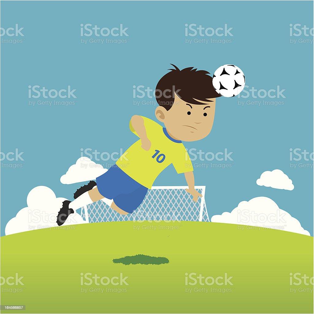 Soccer Champ - Heading Ball vector art illustration