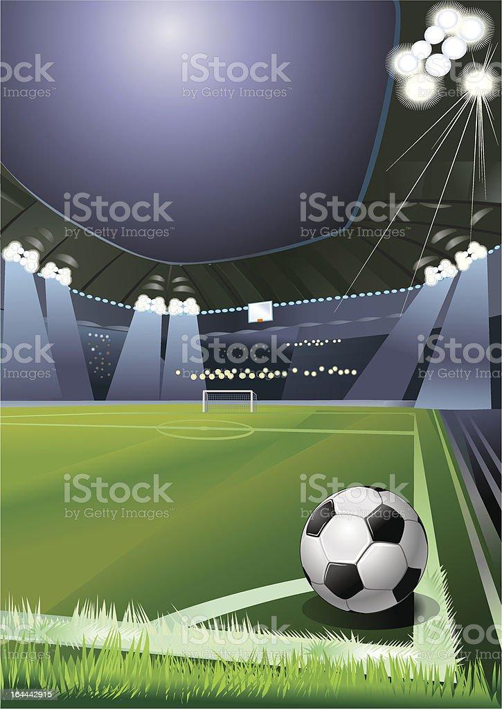 soccer corner royalty-free stock vector art