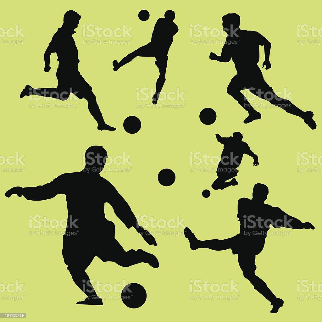 Soccer Dynamos royalty-free stock vector art