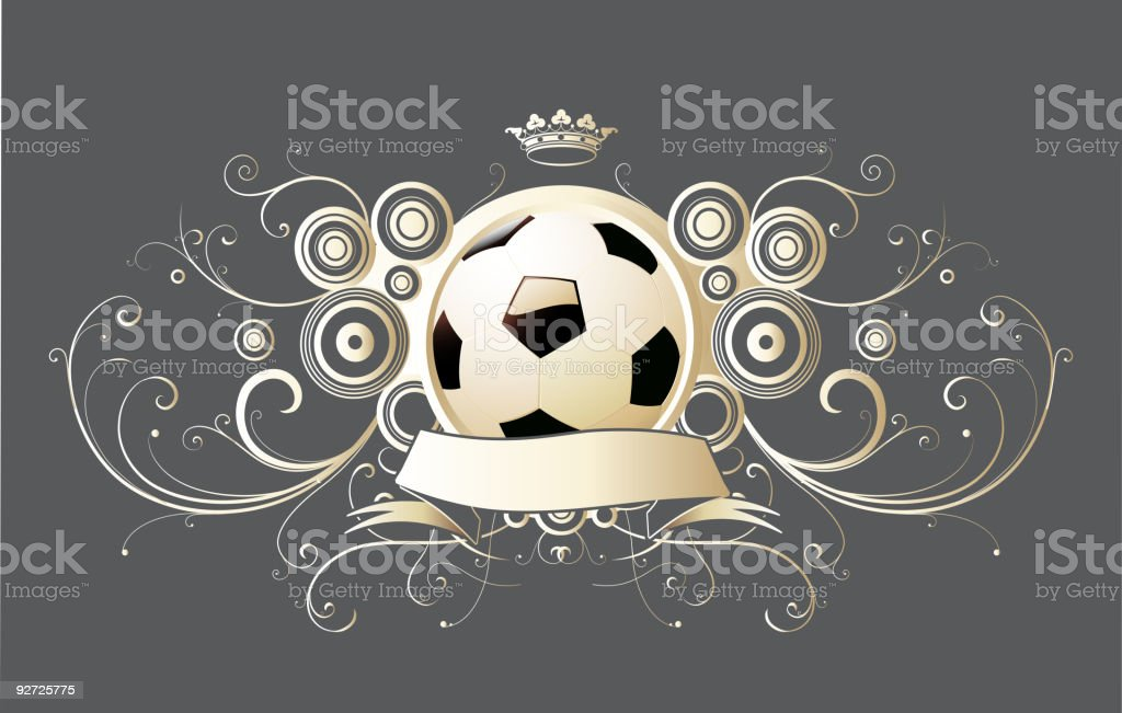 soccer emblem royalty-free stock vector art