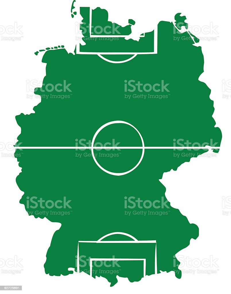 Soccer Field Germany Map royalty-free stock vector art