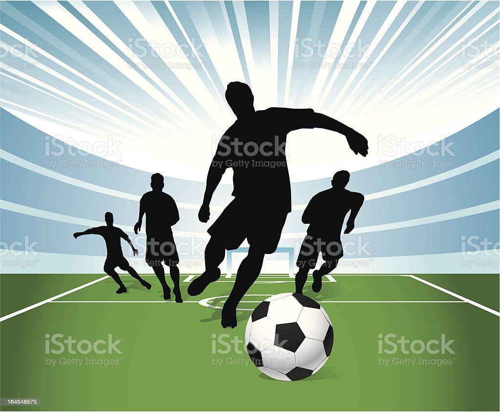 Soccer Game royalty-free stock vector art