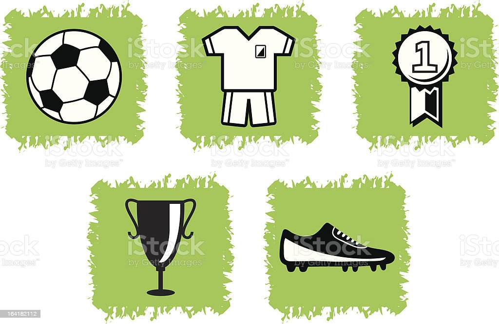 Soccer icons royalty-free stock vector art