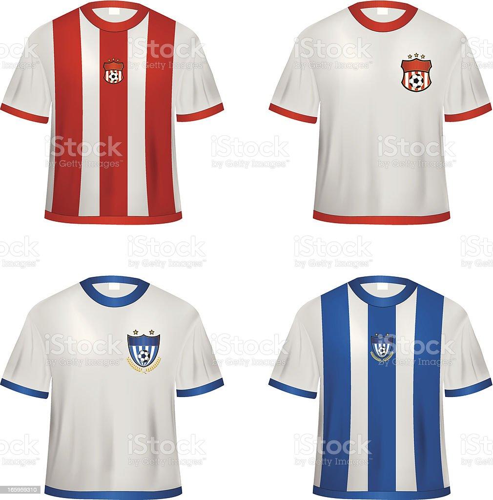 Soccer jerseys royalty-free stock vector art