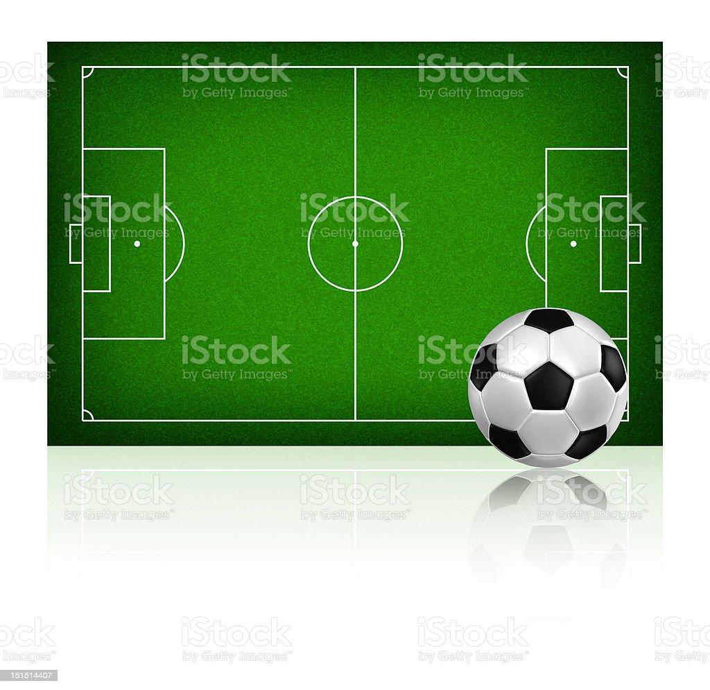 soccer on grass field royalty-free stock vector art
