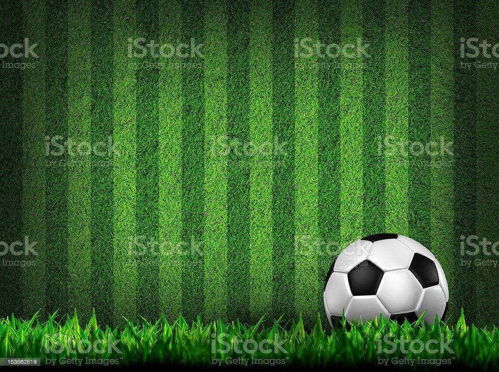 soccer on grass field vector art illustration