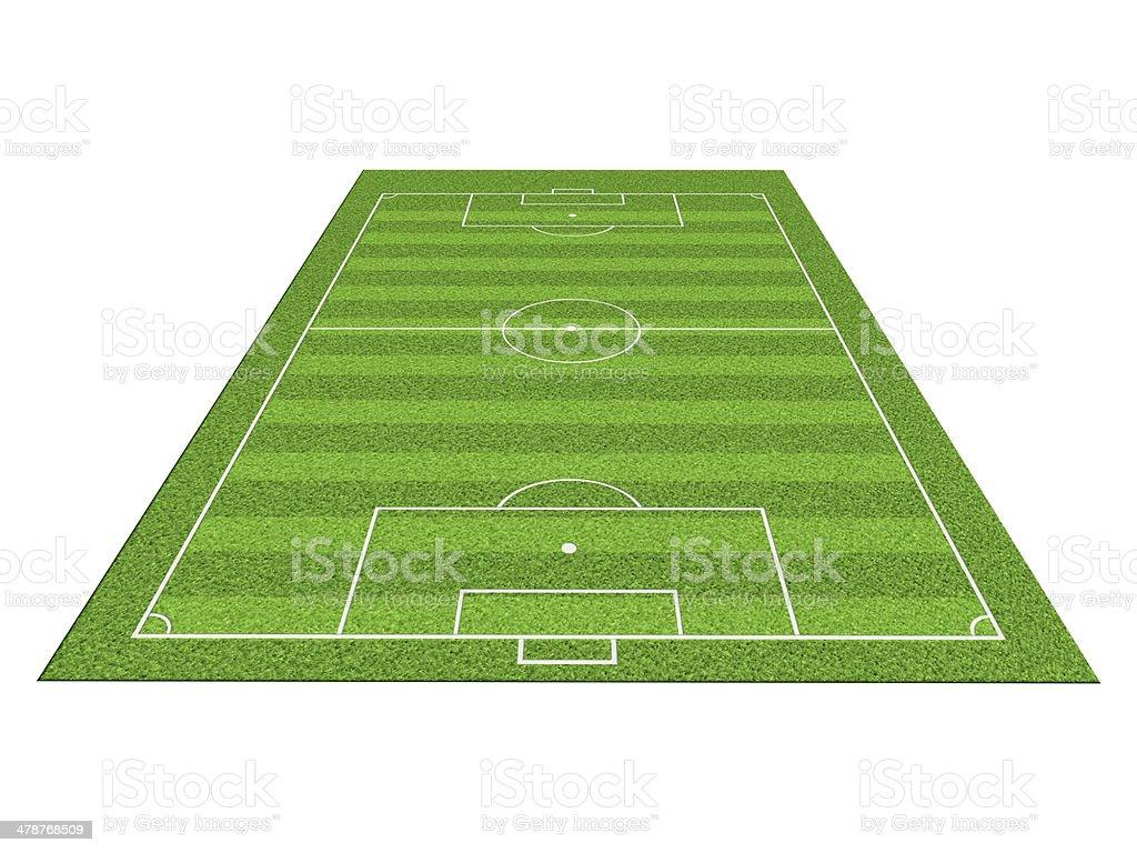 Soccer or football field isolate on white background vector art illustration