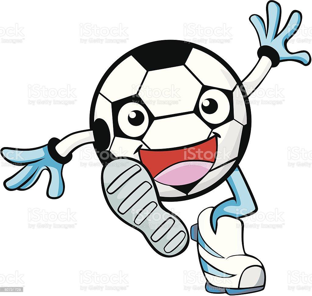 Soccer Play royalty-free stock vector art