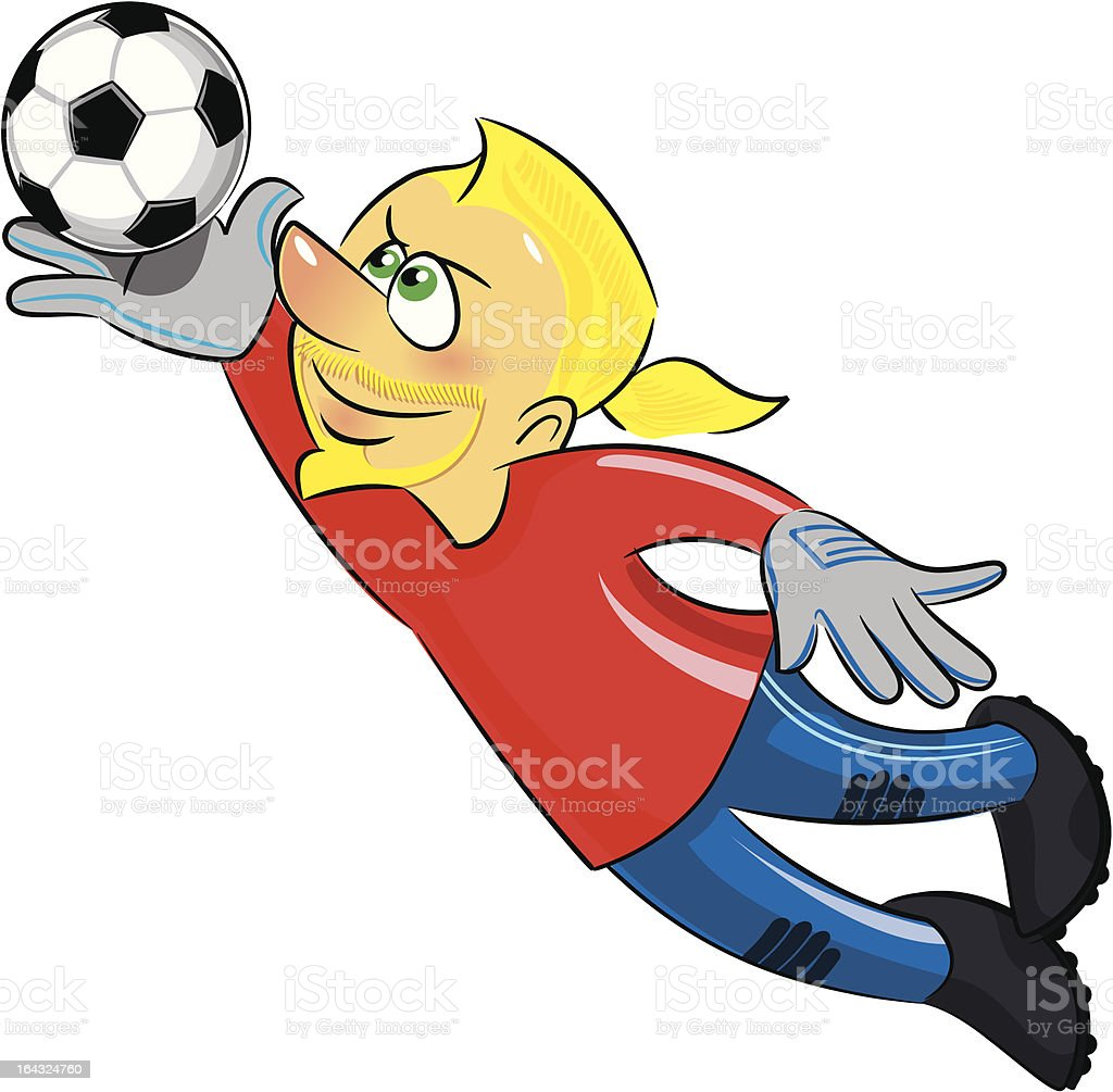 Soccer player -Goalie royalty-free stock vector art