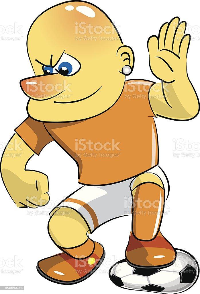 Soccer player royalty-free stock vector art