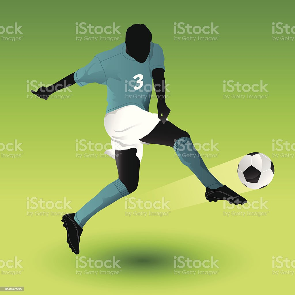 Soccer Shot royalty-free stock vector art
