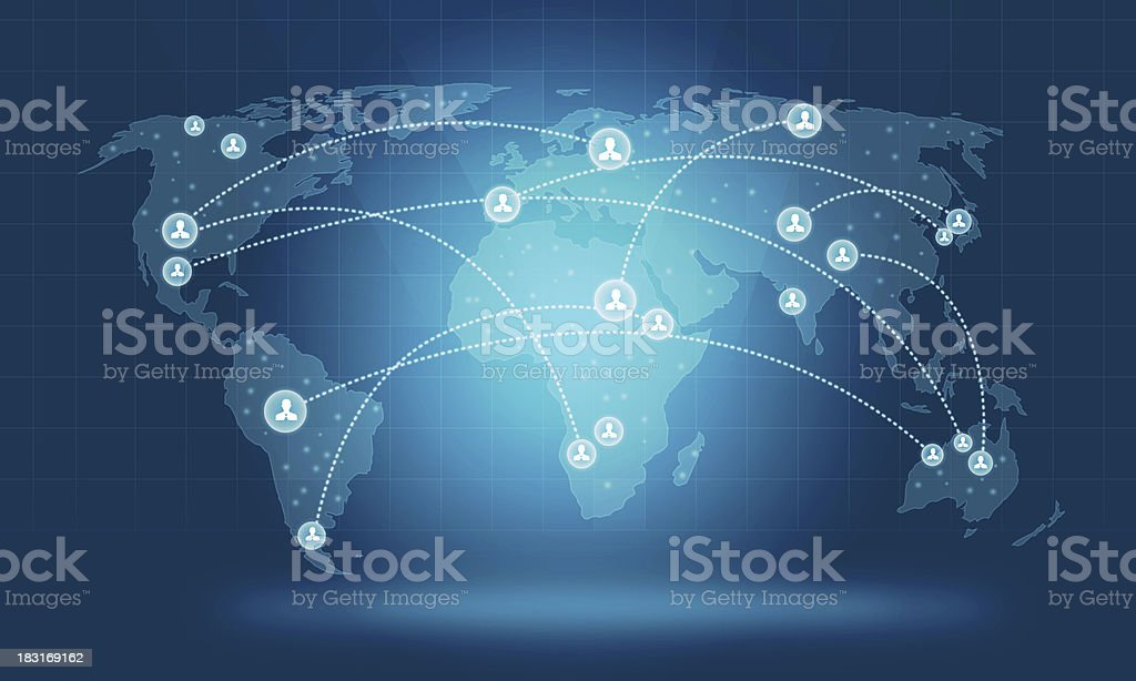 social concept world network vector art illustration