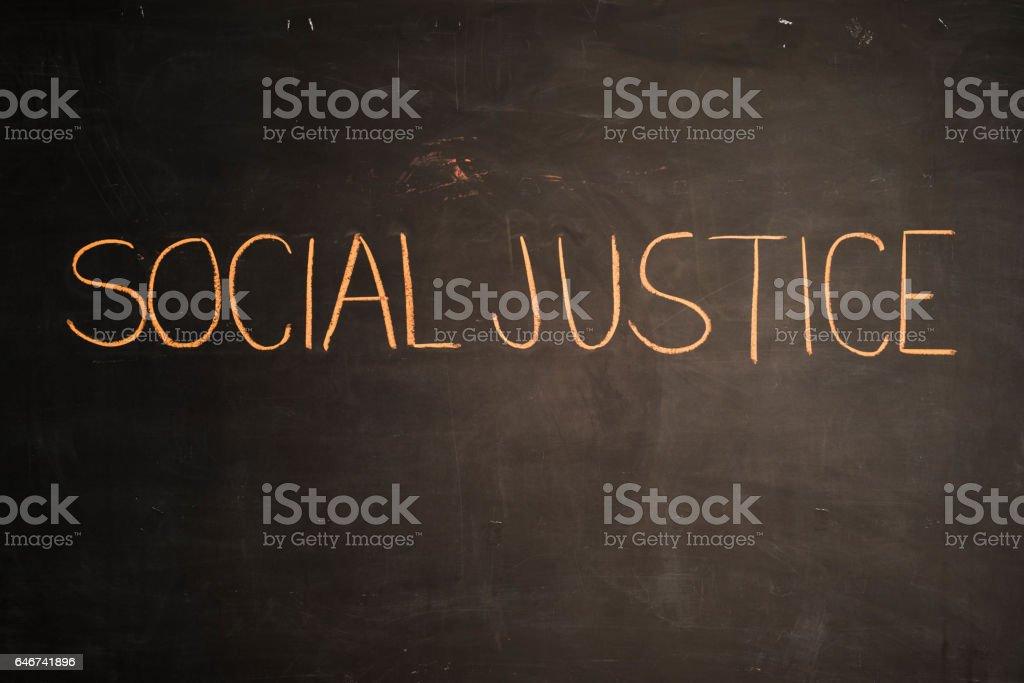 TEXT Social Justice against black backdrop - Illustration vector art illustration