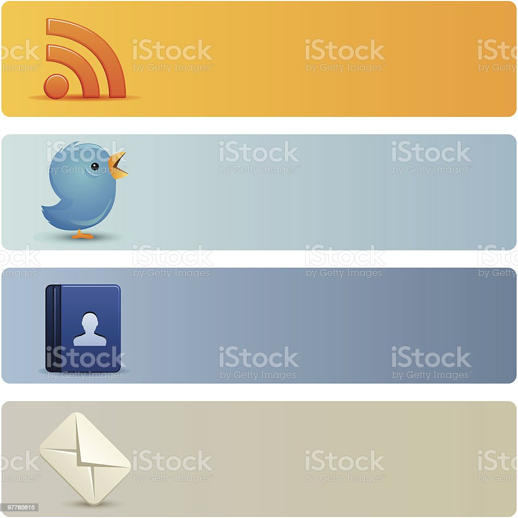 Social Media Banners royalty-free stock vector art