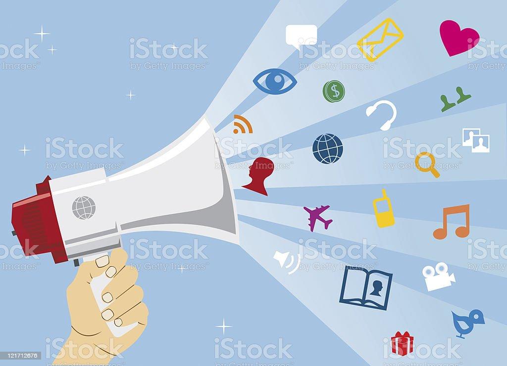 Social media communication royalty-free stock vector art