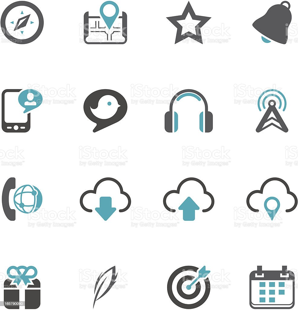 Social Media Icon Set | Concise Series vector art illustration