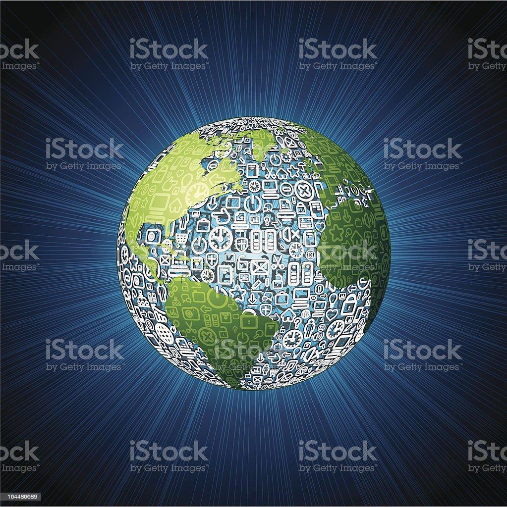 Social Media World Vector royalty-free stock vector art