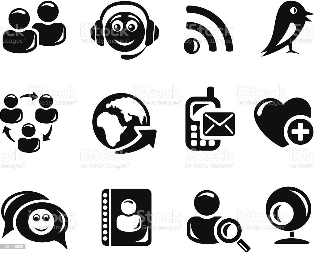 Social network icons royalty-free stock vector art