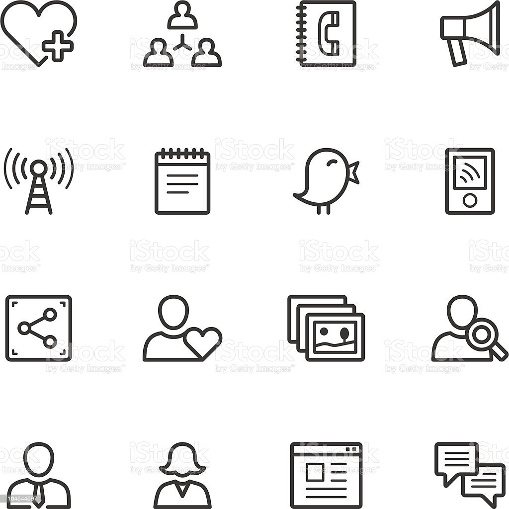 Social Network Icons vector art illustration