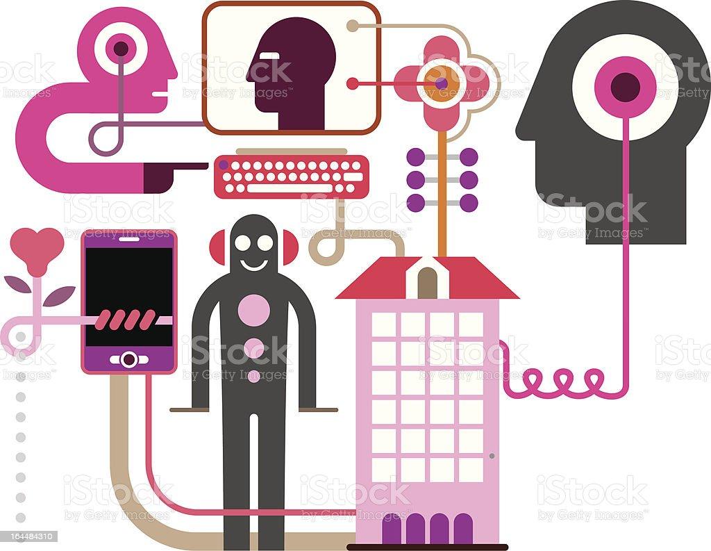 Social Network - vector illustration royalty-free stock vector art
