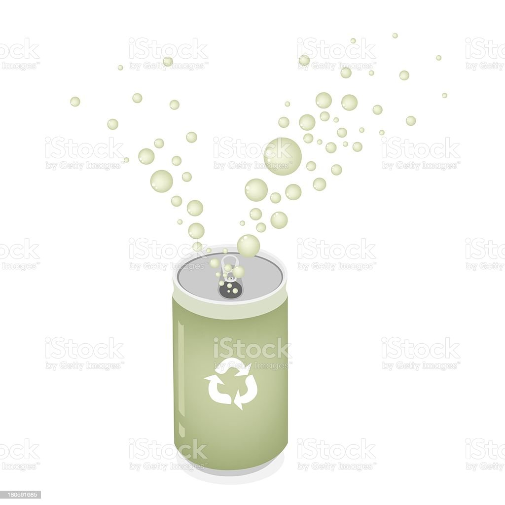 Soda Can with Recycle Symbol for Save The Green World royalty-free stock vector art