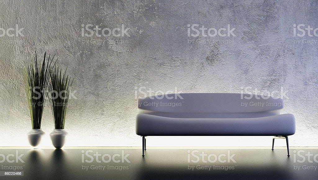 sofa 3D rendering royalty-free stock vector art